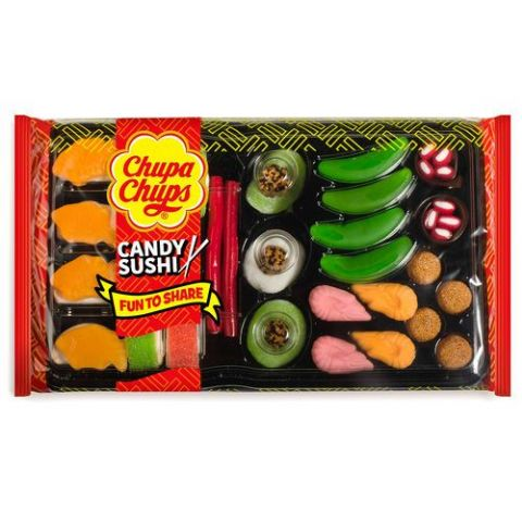 Candy Sushi In Gift Tray Chupa Chups Assorted Jelly Candies Sweets 270g